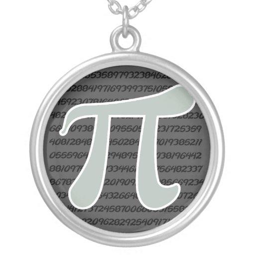 Ash Gray Pi Symbol Custom Jewelry