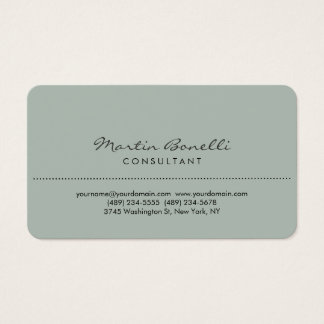 Ash Gray Rounded Corner Consultant Business Card