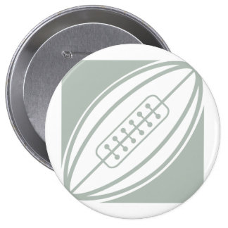 Ash Gray & White Rugby Button
