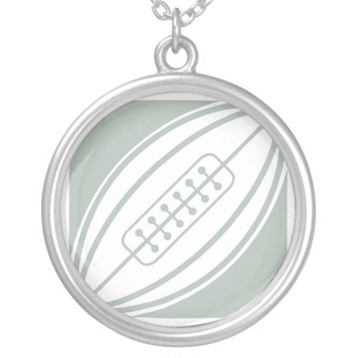 Ash Gray & White Rugby Personalized Necklace