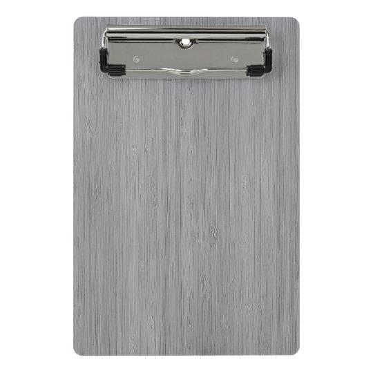 Ash Grey Bamboo Wood Grain Look Mini Clipboard