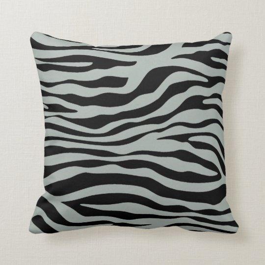 Ash Grey; Grey and Black Zebra Animal Print