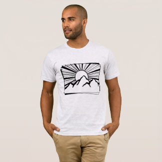Ash Grey Rodney Ridge Mountain Logo Men's T-Shirt