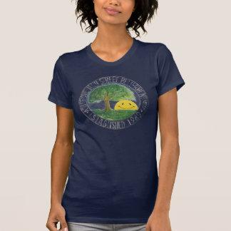 Ash Grove Sign Shirt shown on dark shirt.