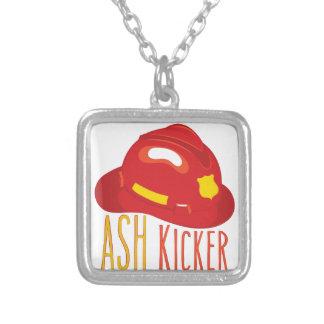 Ash Kicker Square Pendant Necklace