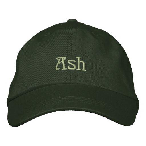 ASH Name Designer Cap Embroidered Hat