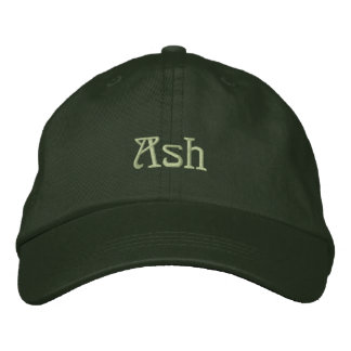 ASH Name Designer Cap Embroidered Hat