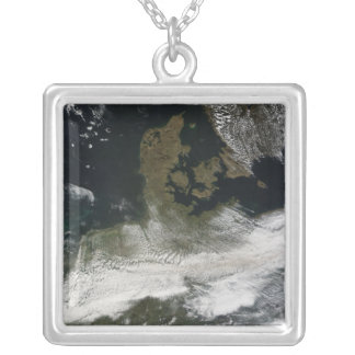 Ash plume from Eyjafjallajokull Volcano 2 Silver Plated Necklace