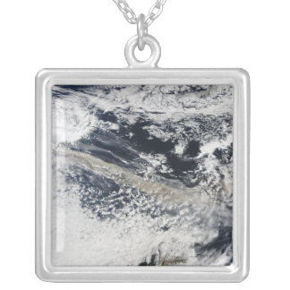 Ash plume from Eyjafjallajokull Volcano Silver Plated Necklace