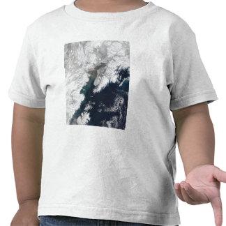 Ash plume from Mount Redoubt Alaska Tshirts