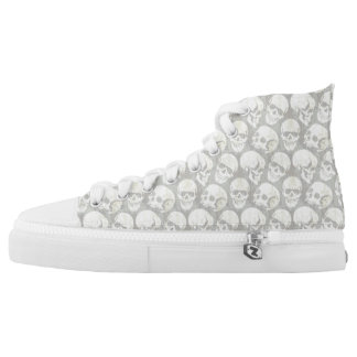 Ash Punk Skull Hi Tops Printed Shoes