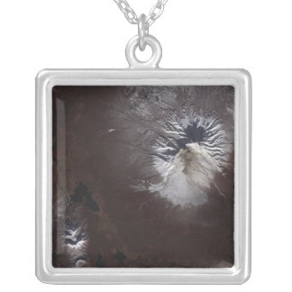 Ash stains on Russia's Shiveluch volcano�s sl Personalized Necklace