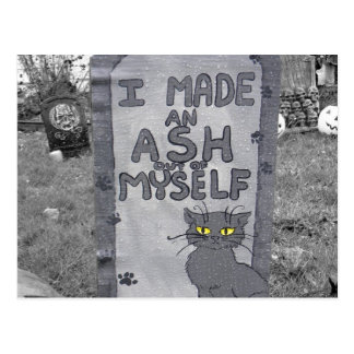 Ash Tombstone Postcard