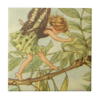 Ash Tree Fairy Walking on Branch Tile