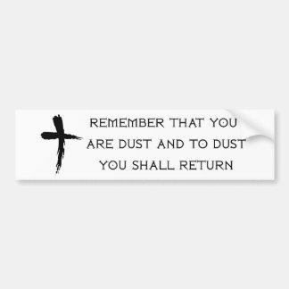 Ash Wednesday Bumper Sticker