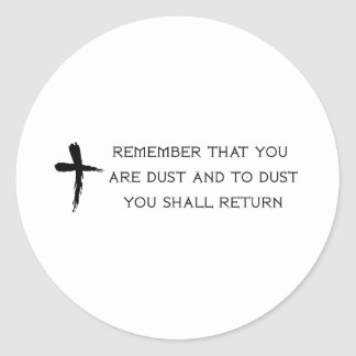 Ash Wednesday Round Sticker