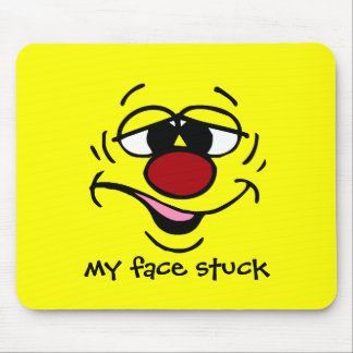 Ashamed Smiley Face Grumpey Mouse Pad