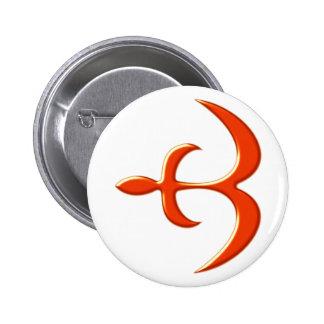 Ashanti symbol mercy protection instruction 6 cm round badge