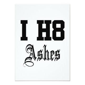 ashes 13 cm x 18 cm invitation card