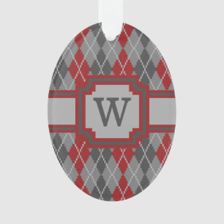 Ashes and Embers Argyle Acrylic Ornament
