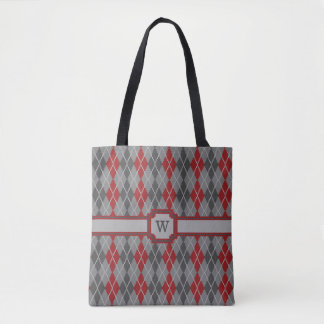 Ashes and Embers Argyle All-Over-Print Bag