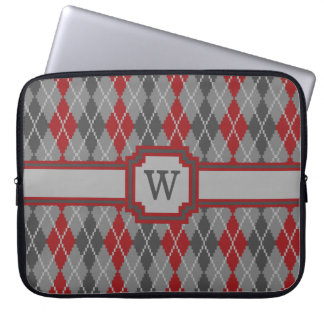 Ashes and Embers Argyle Laptop Sleeve
