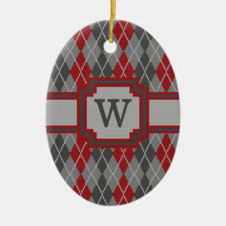 Ashes and Embers Argyle Ornament