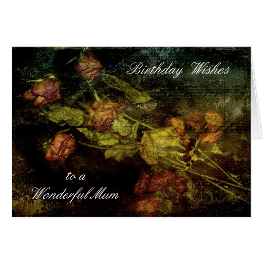 ASHES OF ROSES HAPPY BIRTHDAY MUM GREETING CARD