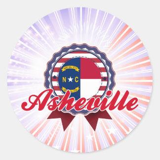 Asheville, NC Round Sticker