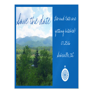Asheville North Carolina Save the Date Magnet Magnetic Invitations
