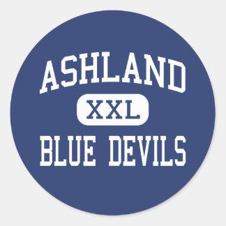 Ashland - Blue Devils - High - Ashland Mississippi Round Sticker