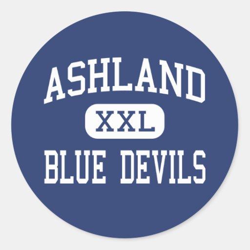 Ashland Blue Devils Middle Ashland Round Stickers