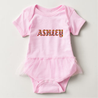 Ashley Cute Love Hearts Romantic Typography Girl Baby Bodysuit