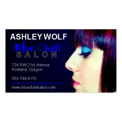 Ashley for Blue Chair Salon Pack Of Standard Business Cards