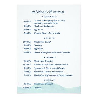 Ashley & Nolan's Wedding Schedule 1 11 Cm X 16 Cm Invitation Card
