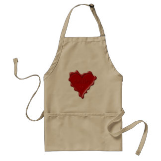 Ashley. Red heart wax seal with name Ashley Standard Apron