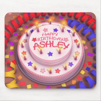 Ashley s Birthday Cake Mouse Pads
