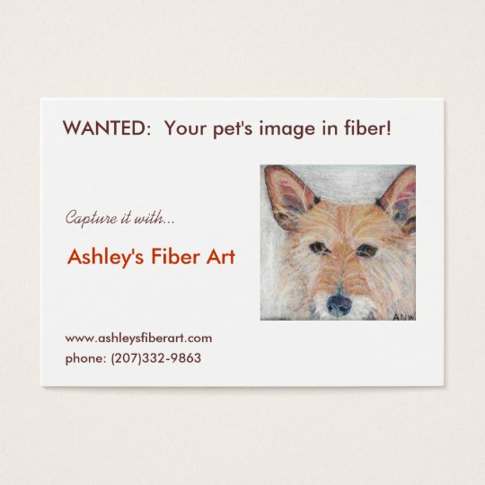 Ashley's Fibre Art Business Card