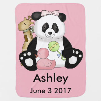Ashley's Personalized Panda Baby Blanket