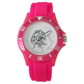 Ashley's Sporty Flirty Fun Pink Wristwatch