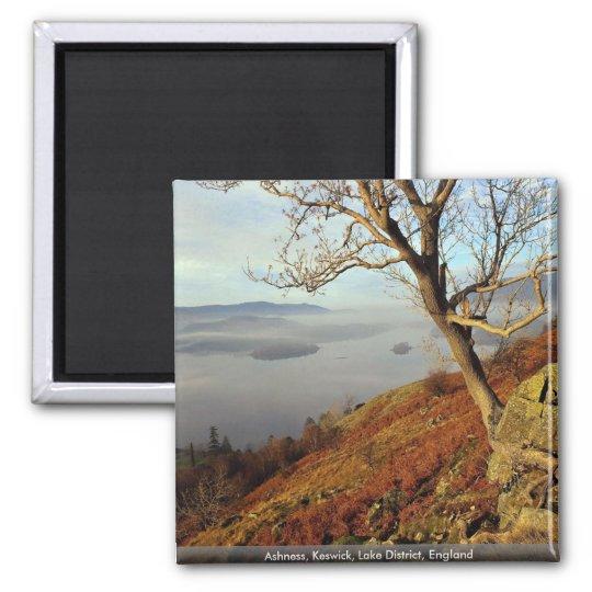 Ashness, Keswick, Lake District, England Square Magnet