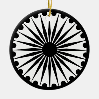 Ashoka Chakra Round Ceramic Decoration