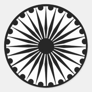 Ashoka Chakra Round Sticker