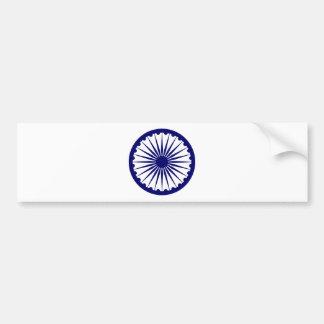 Ashoka's Dharma Chakra Bumper Sticker