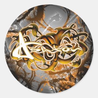 Ashton Round Sticker