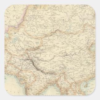 Asia 10 square sticker