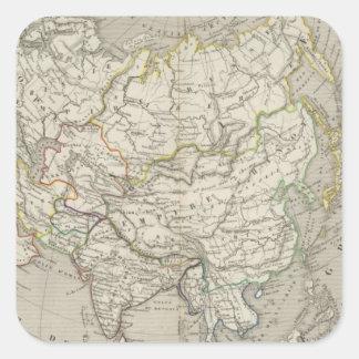 Asia 11 square sticker
