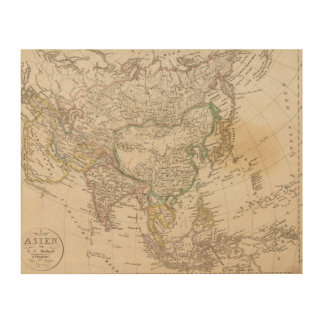 Asia 13 wood print
