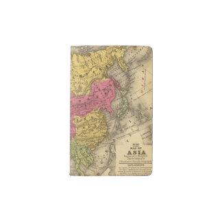 Asia 14 pocket moleskine notebook
