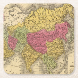 Asia 14 square paper coaster